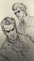 Rhys and Handsome Jack by NesoKaiyoH