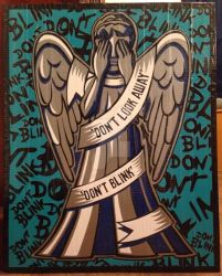 Weeping Angel Duct Tape Art by DuctTapeDesigns