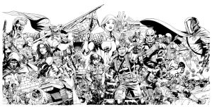 GI JOE 17 Combined Cover inks by RobertAtkins