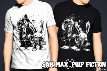 Sam and Max X Pulp Fiction by crula