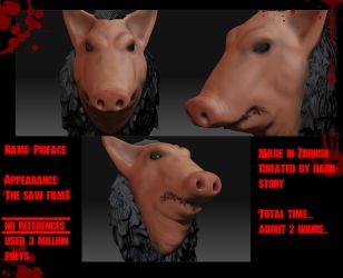 Pigface Zbrush 3D model by DarkStory