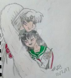 Trade: Kagome and Sesshomaru by CowgirlMickey