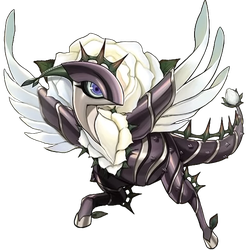 White Rose Dragon by coccvo