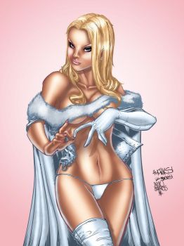 Emma Frost colors by FlashColorist