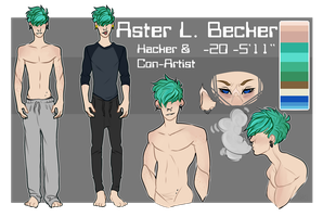 Aster L. Becker Ref Sheet by Loxiv