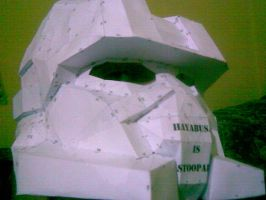 My first Halo 3 Paper Helmet by talic017