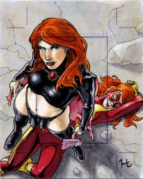 Goblin Queen and Jean Grey by jeh-artist