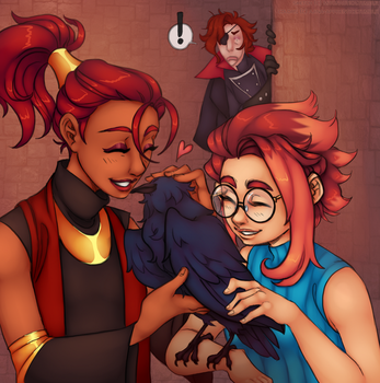 When the Raven steals your Show by Pikuna