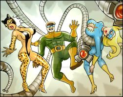 Doc Ock and the Ladies by RafM by MasterOfZen