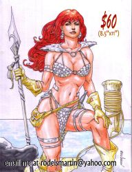 Red Sonja 02 by Noora Sept 12 2018 by rodelsm21