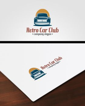 Retro Car Club Logo by pascreative