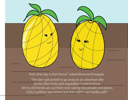 Penny Pineapple and Momma Pineapple by Hmelliott1515