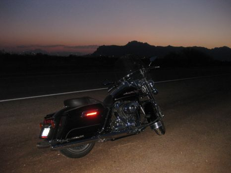 Arizona Sunrise with bike 072614 01 by acurmudgeon