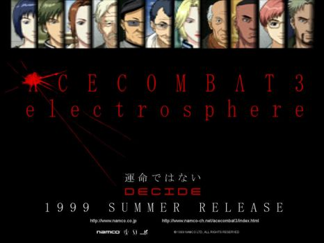 ACE COMBAT 3 electrosphere Poster by DragonSpikeXIII