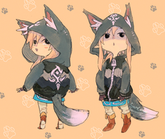 LoZ: Wolf Link Hoodie Request by saltycatfish