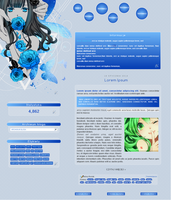 Blue Roses (panda-graphics) by zielony-kociak