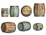 Barrels PNG Stock by Roy3D