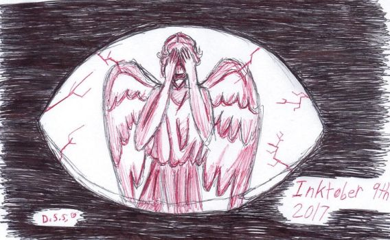 Inktober 9th: Need to Blink by DonnaDarling1412
