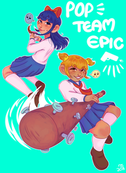 POP TEAM EPIC by lotionthenightshade