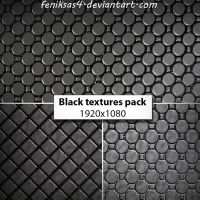 black textures pack 1920x1080 by feniksas4