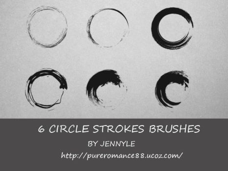Circle stroke brushes by JennyLe88