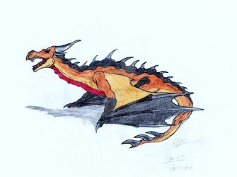 skyrim dragon attempt by MBT808