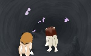 Caving 05 Lepel and Full Moon by magikwolf