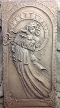 Beauty and the Beast relief- Stone Edition by Kahiah