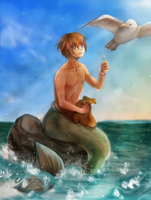 Little Merman by caryncarmona