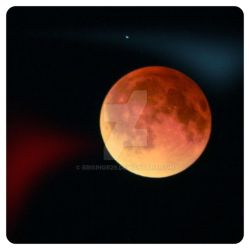 red full moon  eclipse  mexico city by brisingr29