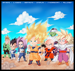Chibi DBZ Heroes -Collab- by xTheMagicianx