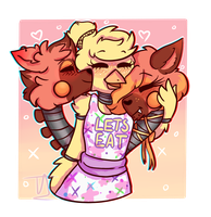 :Changle: ~Cuddles x2~ {Art Trade} by ToXXicArtist
