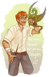 Charlie Weasley by SixofClovers
