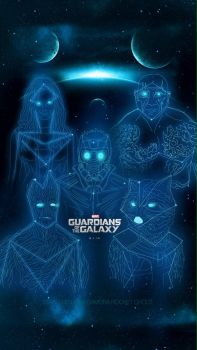 GUARDIANS OF THE GALAXY CONSTELLATION iPhone 5/c/s by hyugewb