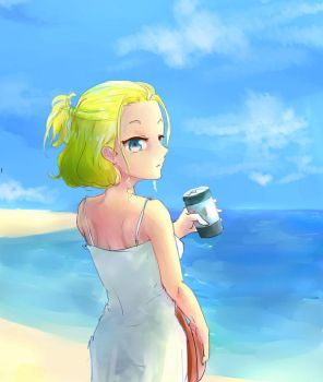 Lady in the beach by mrgonemad