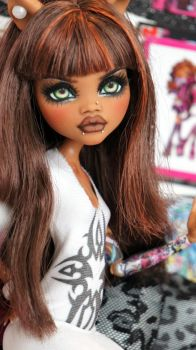 ~Tala~ Monster High Clawdeen Wolf OOAK repaint by RogueLively