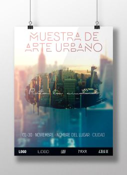 Poster/Flyer Template for your events in PSD by NataliaLfl
