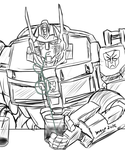 crazy straw Optimus Prime commission by Ynnep