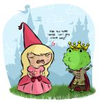 The Princess and The Frog by recycledwax