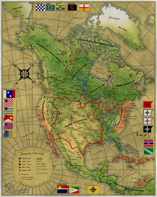 Map of Noramerika by Sapiento