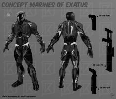 Concept Art - Marines for Exatus by NOOSBORN