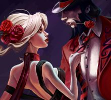 Tango Evelynn and Tango Twisted Fate by Cyllenne