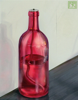 Still Life with Red Oil Bottle by merbel