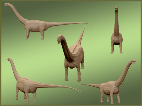 'Stock' titanosaur model by MrGorsh