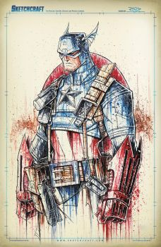 Captain America Saucy by RobDuenas