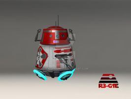 Star Wars Astromech Droid: R3-G1E by calamitySi