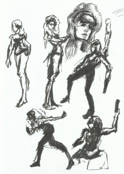 drawing party Sketches 2 by TheInsaneDingo