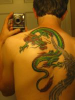Dragon tattoo colored by MrSultan531