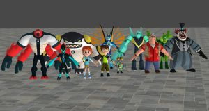 Ben 10 game 2017 Model pack for XNALara by user619