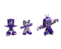 LDD Mixels: RushNight cousins Models by Luqmandeviantart2000
